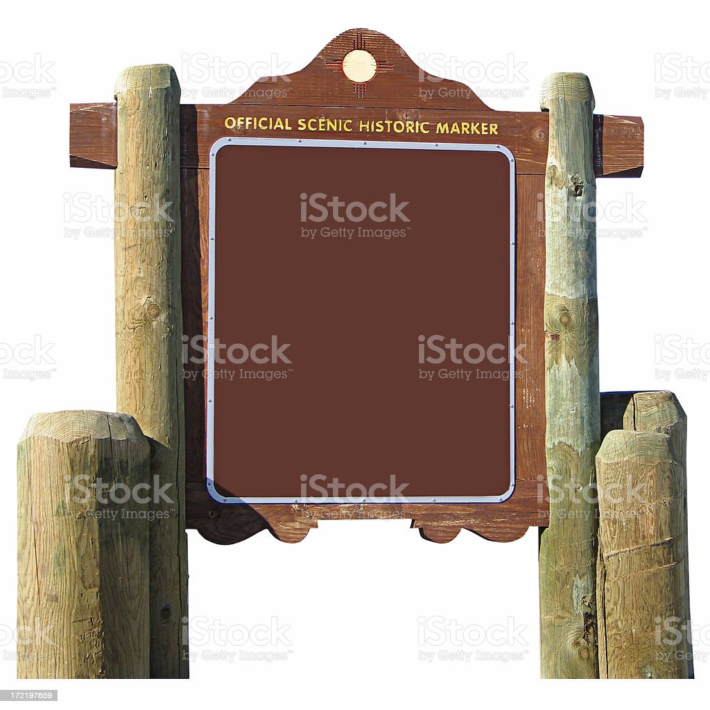 Blank Highway Marker royalty-free stock photo