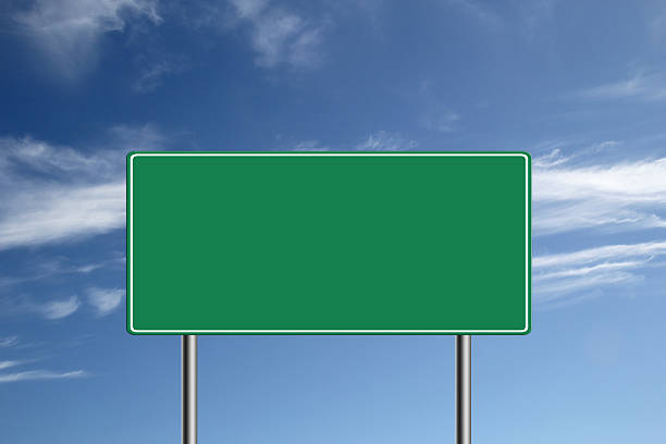 Blank Highway road sign. stock photo