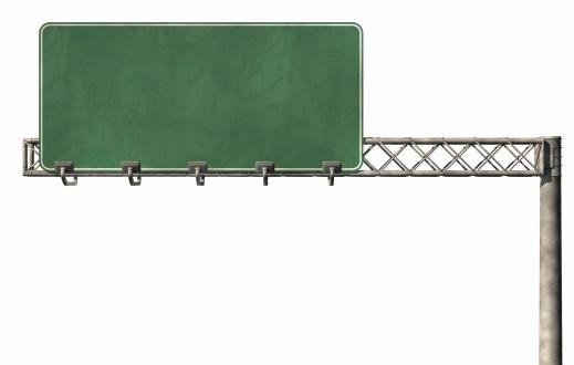 Blank Highway Sign 02