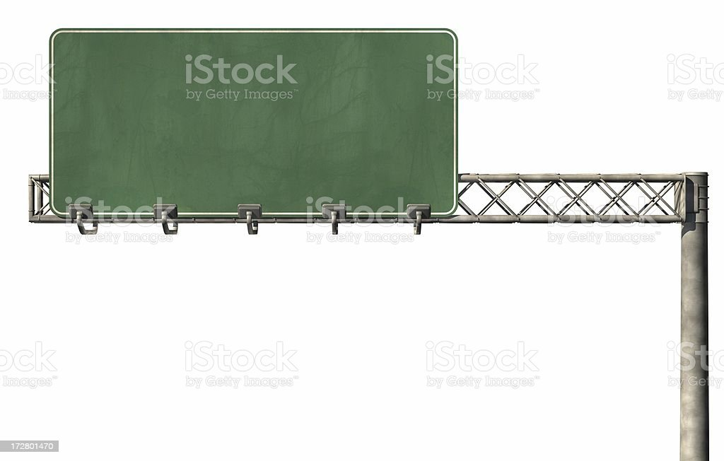 Blank Highway Sign 02 stock photo