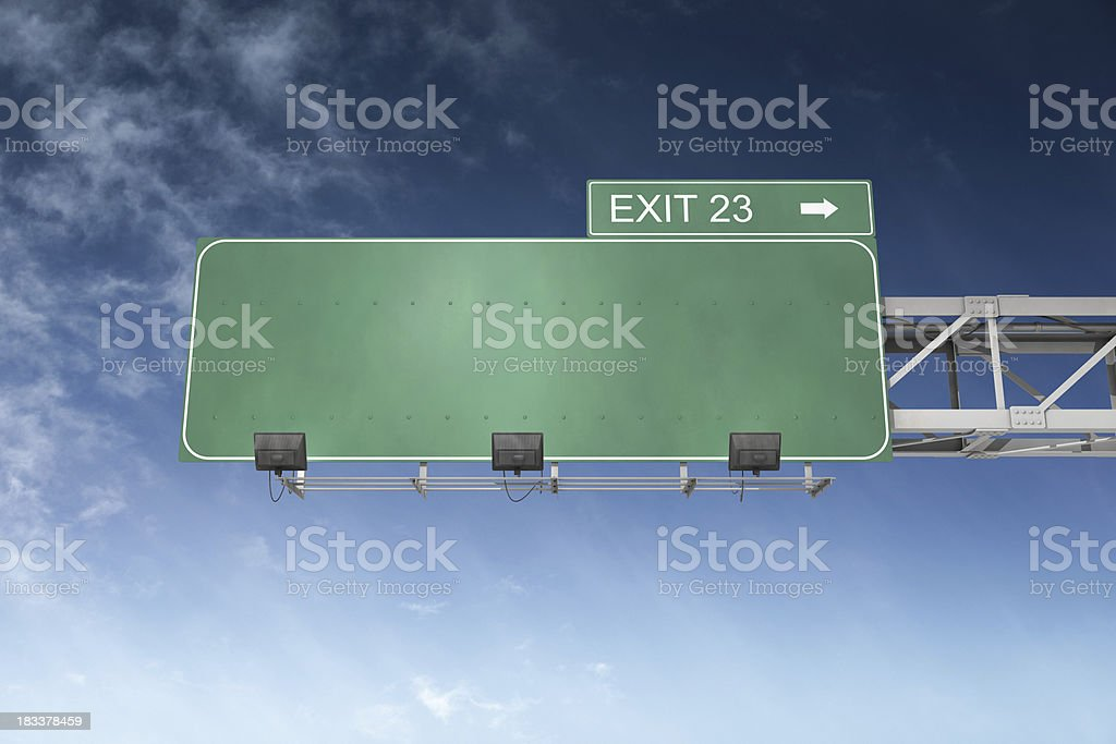 Blank Highway Sign royalty-free stock photo