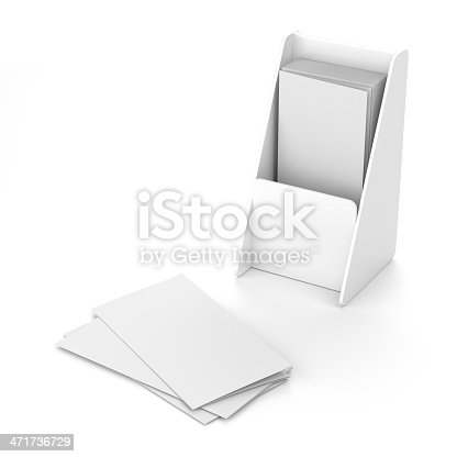 istock Blank holder with leaflets or fliers 471736729