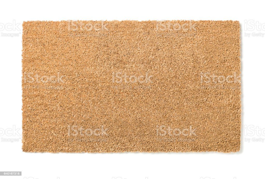 Blank Home Sweet Home Welcome Mat Isolated on White stock photo