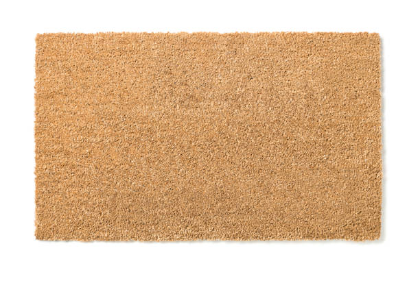 Blank Home Sweet Home Welcome Mat Isolated on White – Foto