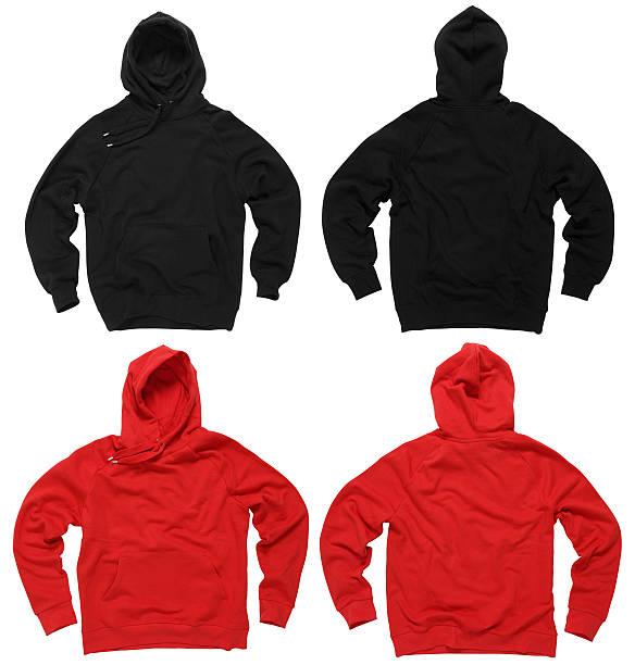 Blank hoodie sweatshirts stock photo