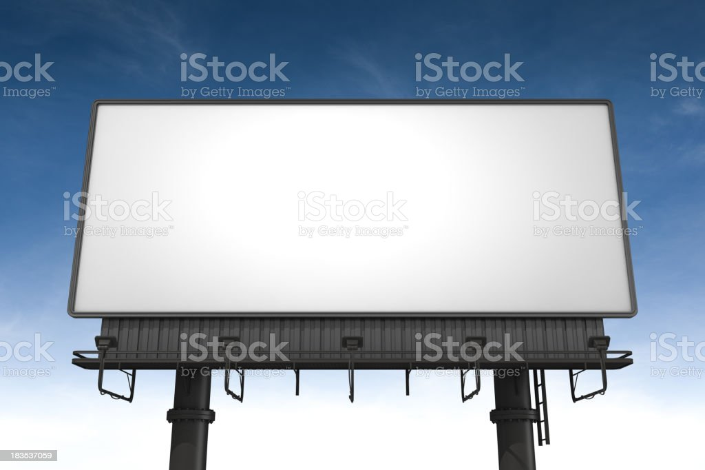 A blank horizontal billboard waits to be filled royalty-free stock photo