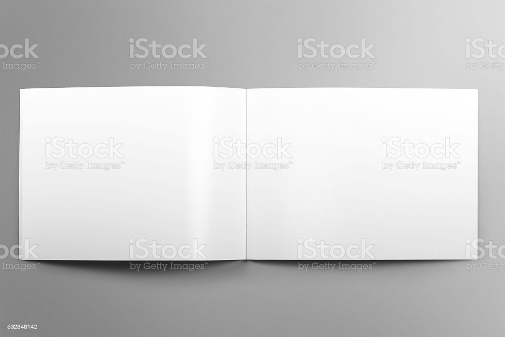 Blanko Mockup Horizontale Broschüre Auf Leichten Grauen Hintergrund ...