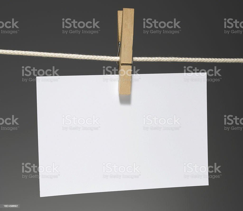 Papel em branco horizontal foto royalty-free