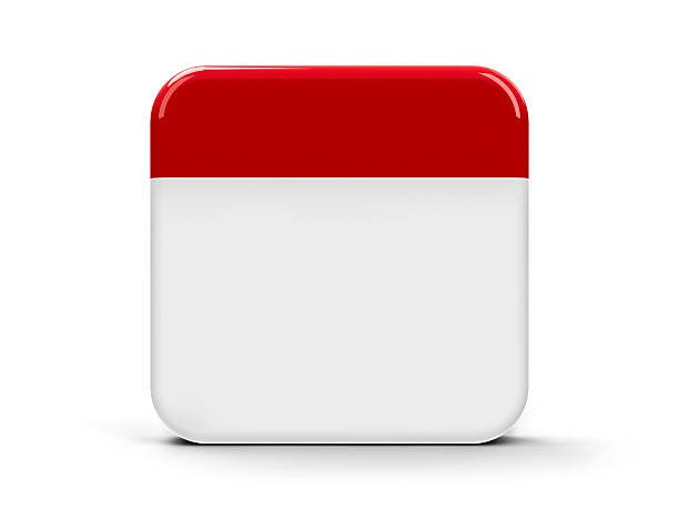 Blank Calendar App Icon : Symbol pictures images and stock photos istock