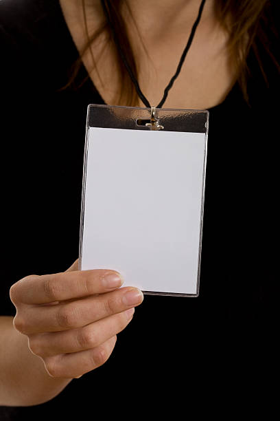 blank ID badge card  first class stock pictures, royalty-free photos & images