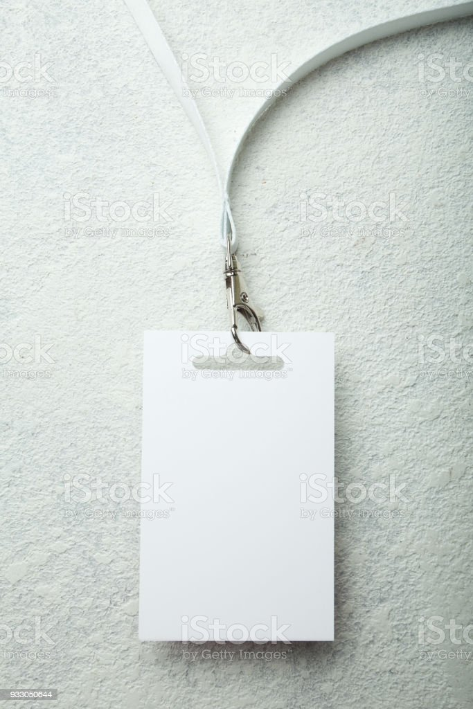 blank id card badge event pass stock photo more pictures of
