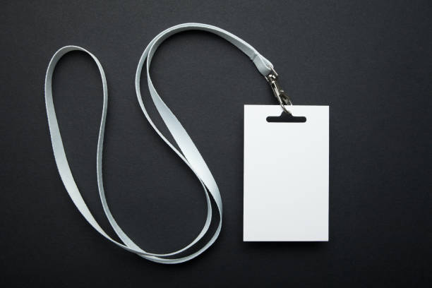 blank id card / badge / event pass - badge stock pictures, royalty-free photos & images