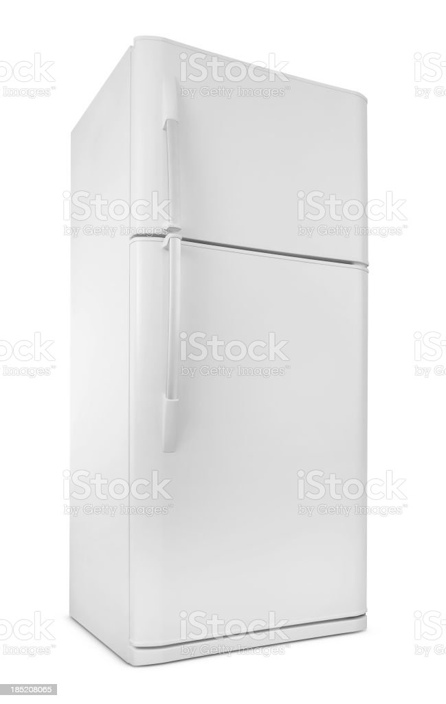 Blank Image of a white,sleek refrigerator royalty-free stock photo
