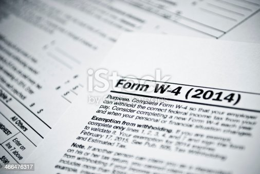 istock Blank income tax forms 466476317