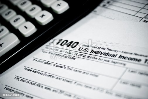 istock Blank income tax forms 466479309
