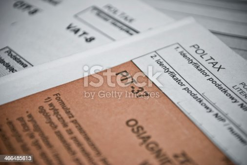 istock Blank income tax forms 466485613