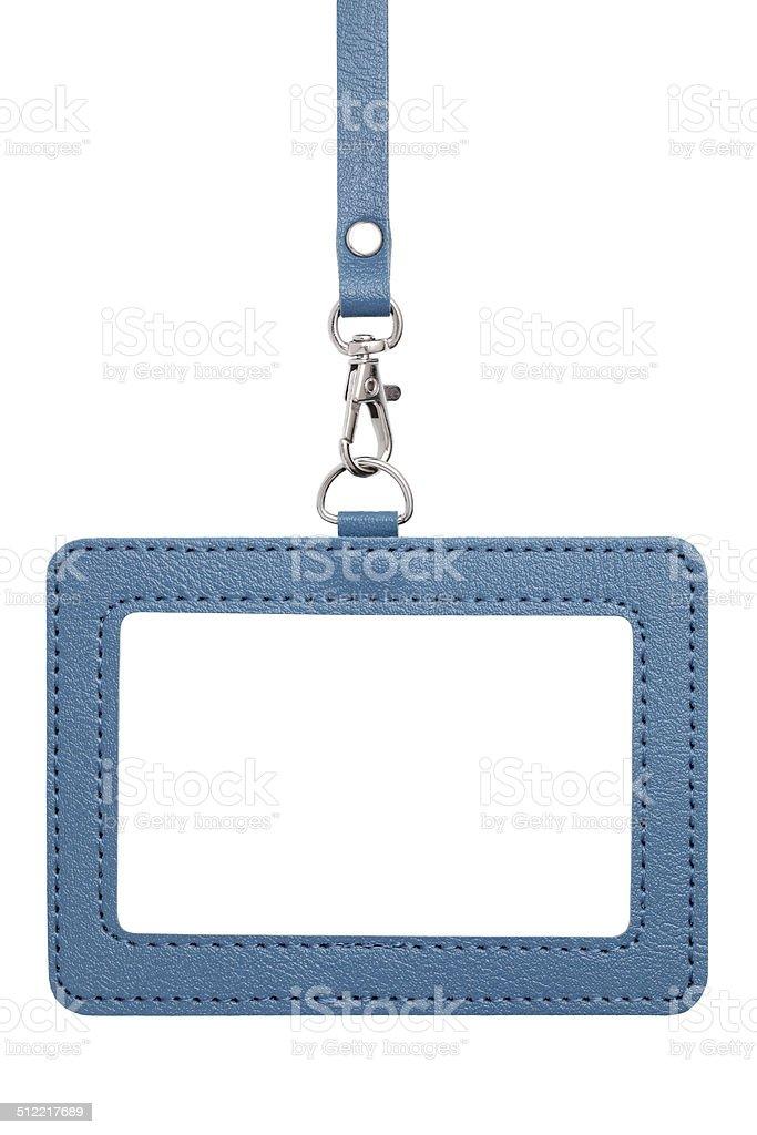 Blank indentification badge stock photo
