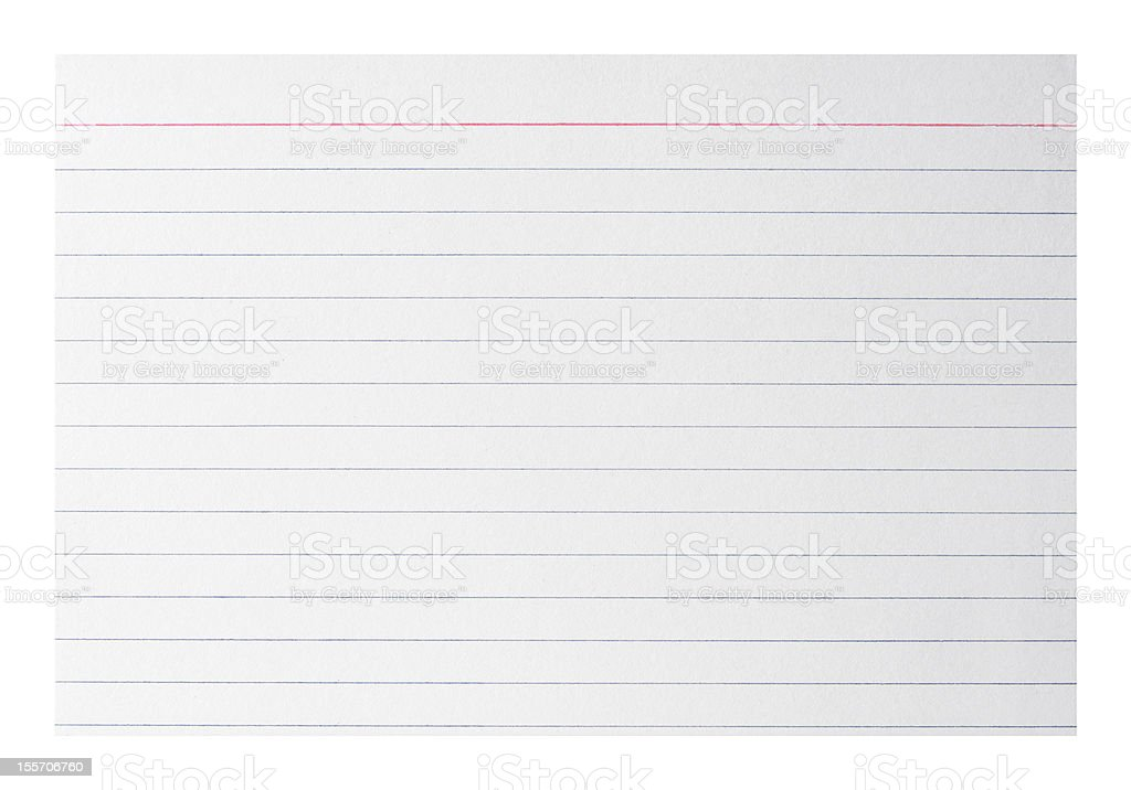 Blank index card royalty-free stock photo