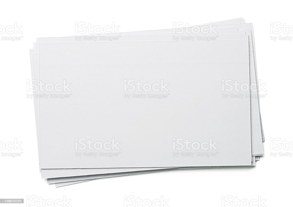 Blank index cards stock photo