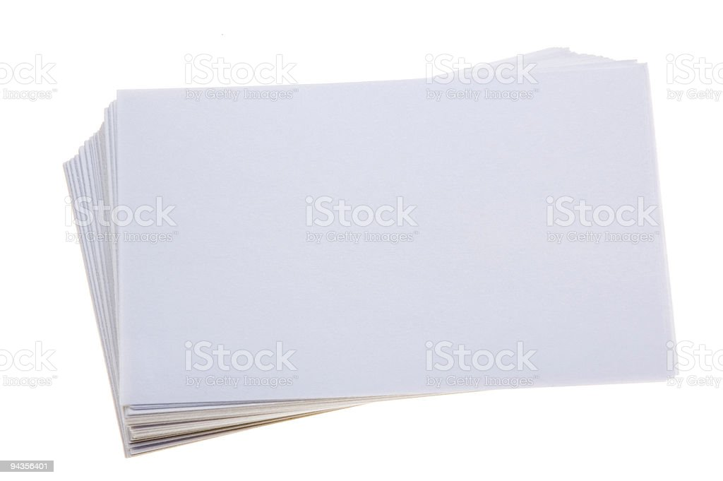 Blank Index Cards royalty-free stock photo