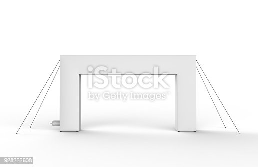 istock Blank Inflatable square Arch Tube or Event Entrance Gate. 3d render illustration. 928222608