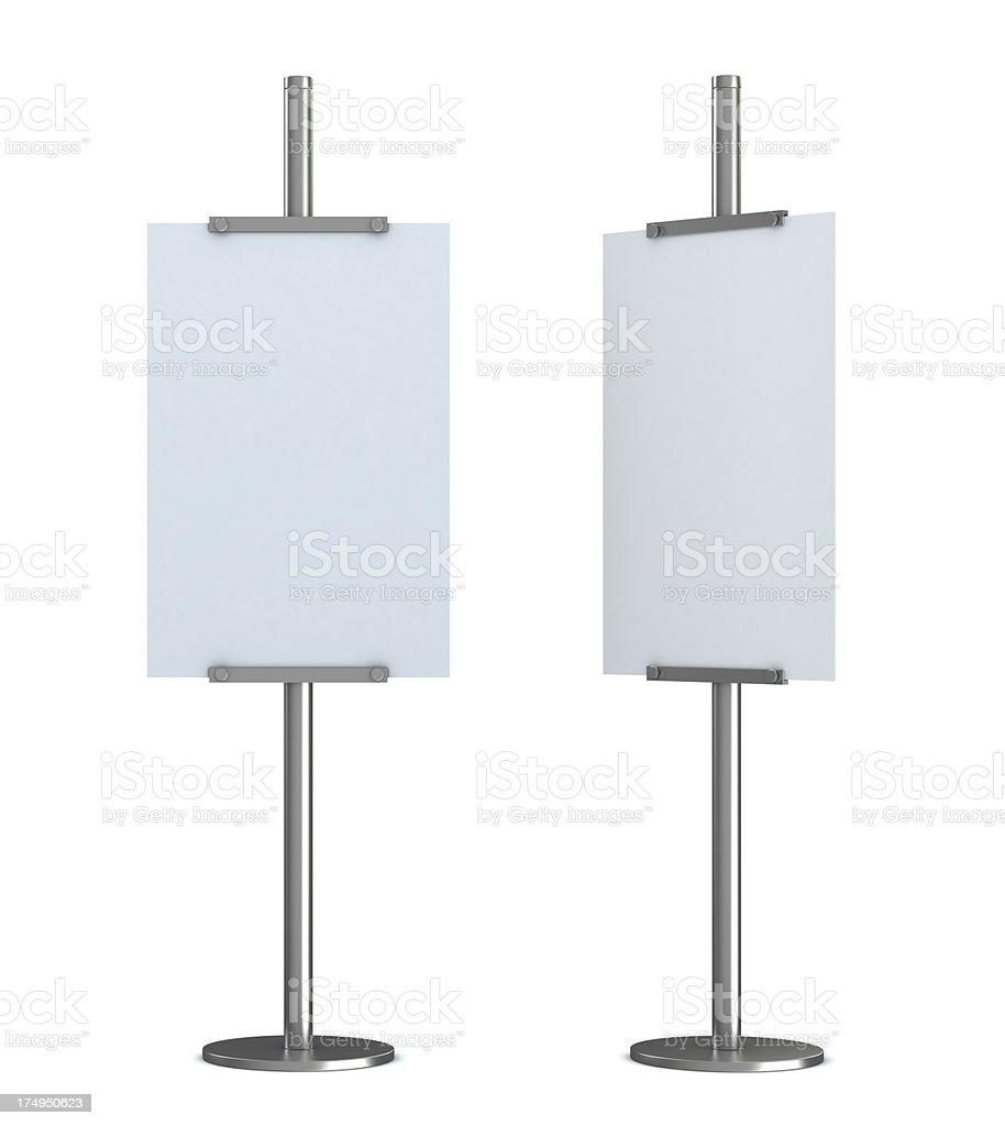 blank information post stock photo