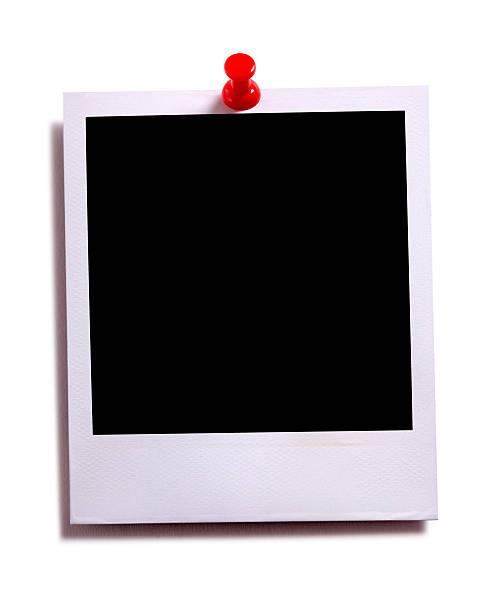 vierge photo instantanée photo imprimée avec rouge pushpin - épingler photos et images de collection