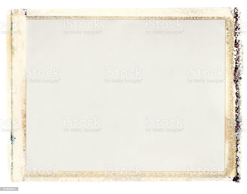 Blank instant Emulsion Transfer stock photo