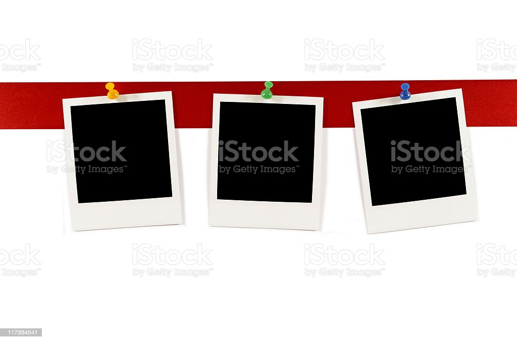 Blank instant photo prints royalty-free stock photo