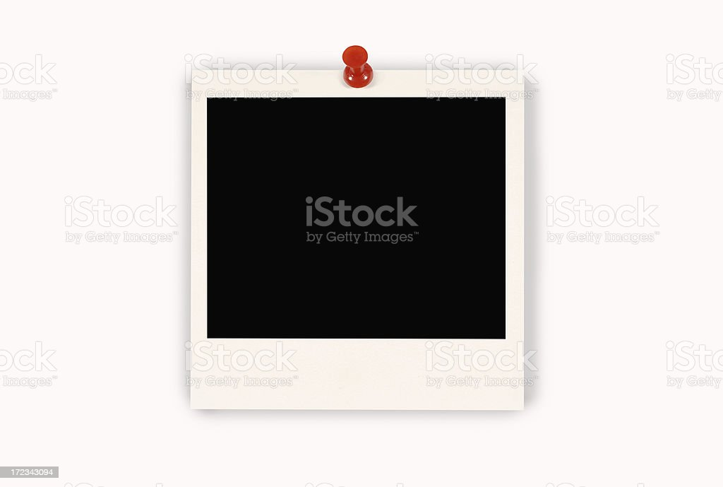 Blank instant print picture royalty-free stock photo