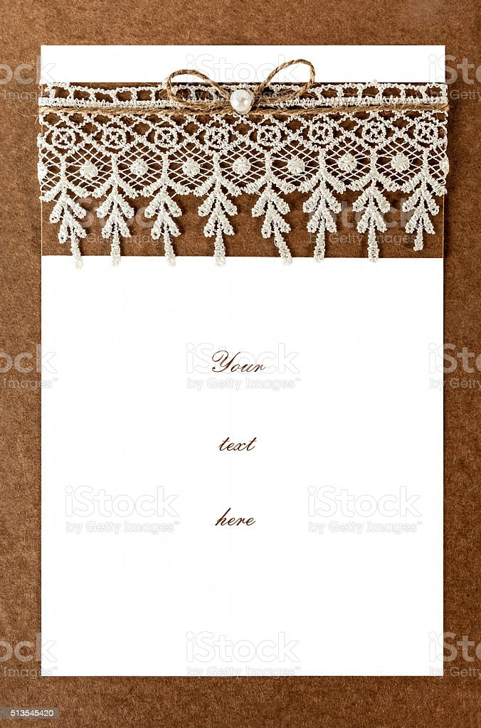 Blank Invitation Card With Original Design Stock Photo More
