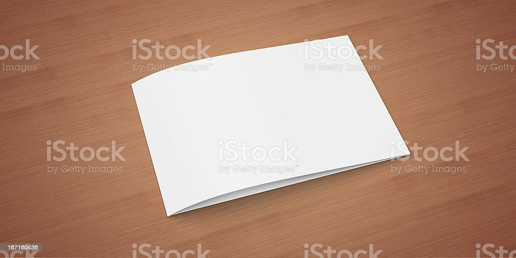 Blank Invitation / Greeting Card on the wooden table royalty-free stock photo