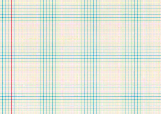 blank isolated graph paper - grid pattern stock photos and pictures