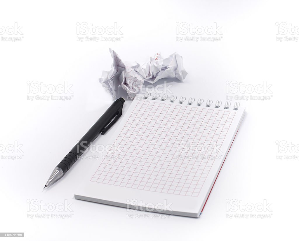 Blank isolated notepad with clipping path stock photo