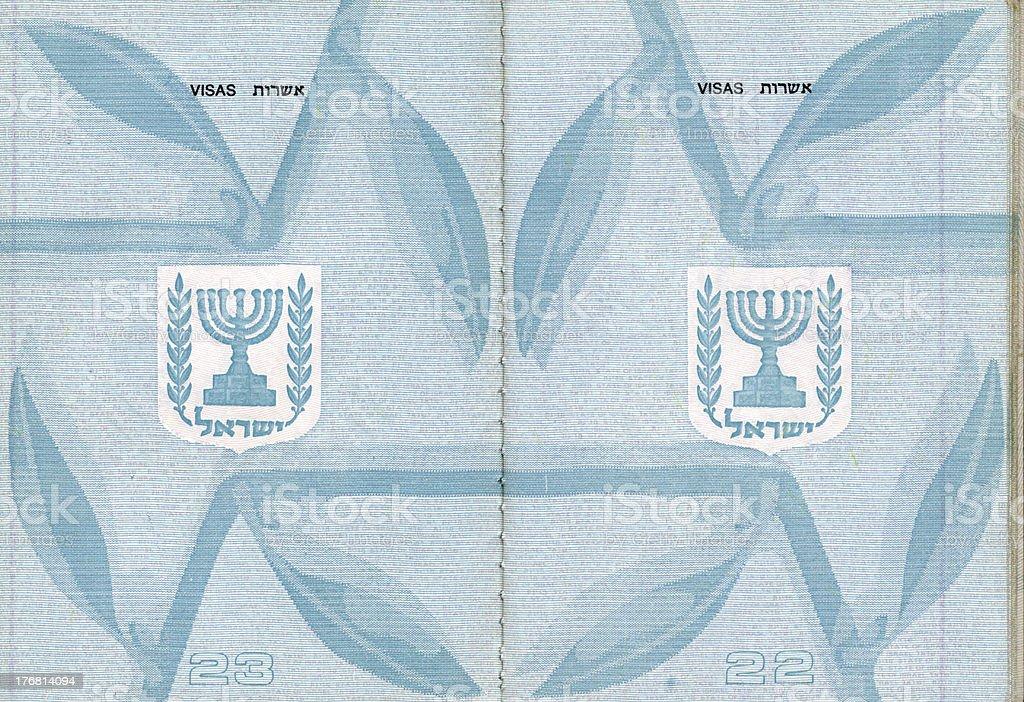 Blank Israeli Passport royalty-free stock photo