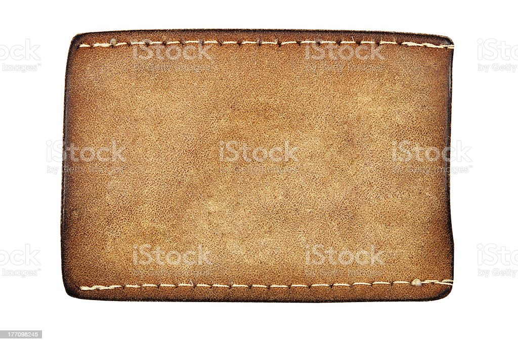 Blank jeans label royalty-free stock photo