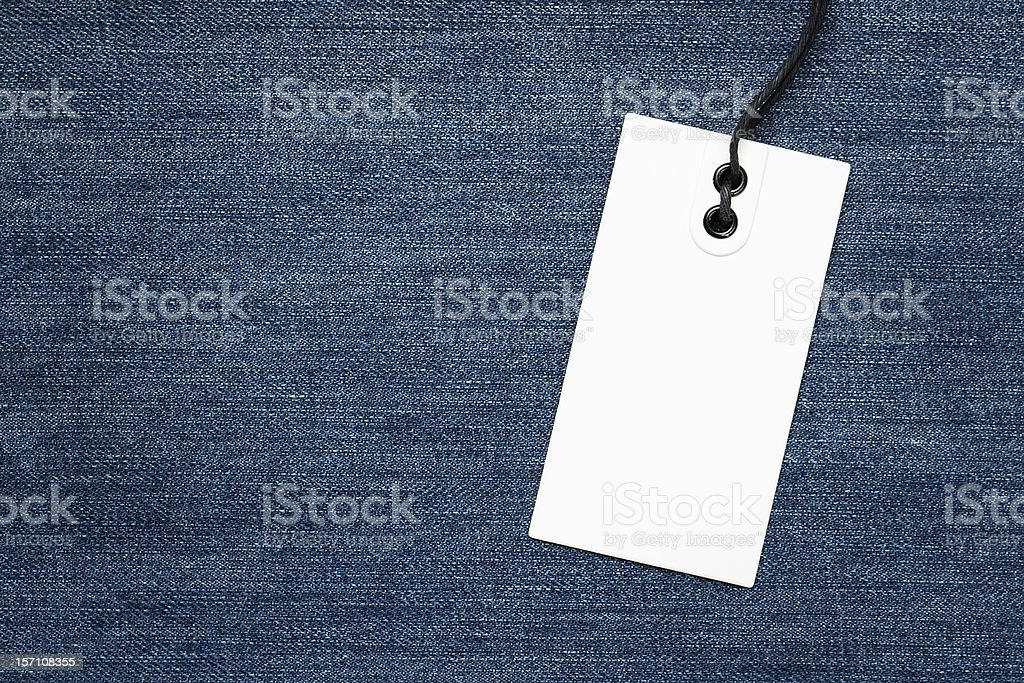 Blank jeans tag royalty-free stock photo