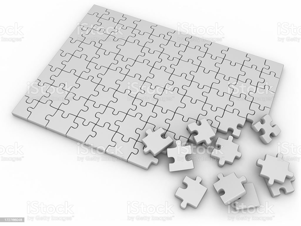 blank jigsaw royalty-free stock photo
