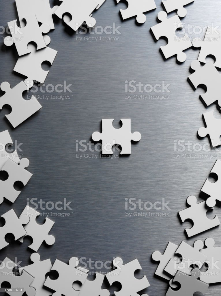 Blank Jigsaw Puzzle royalty-free stock photo