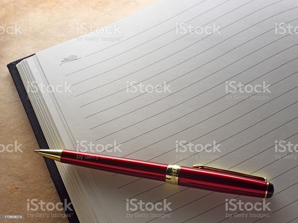 Blank Journal and Pen royalty-free stock photo
