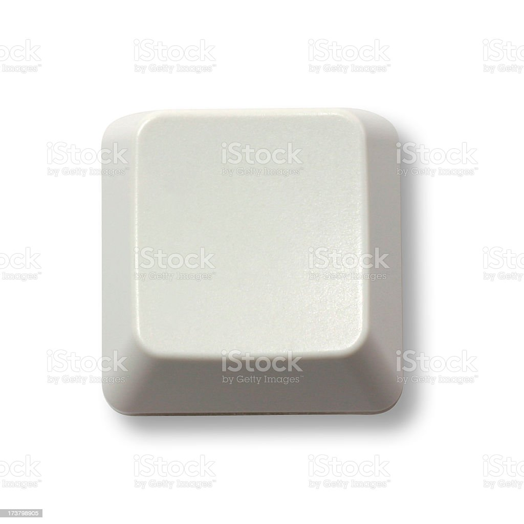Teclado blanco con botón - foto de stock
