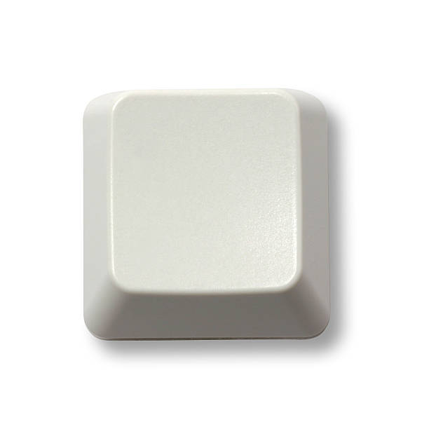 Teclado com botão em branco - foto de acervo