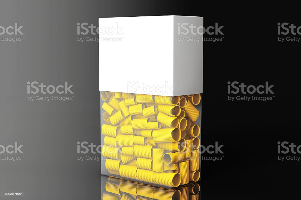 Blank Label Box of Pasta stock photo