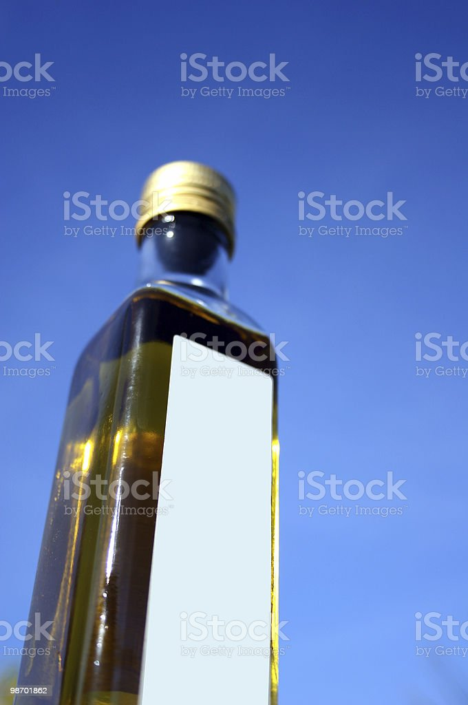 blank label [ virgin olive oil ] product shot royalty-free stock photo