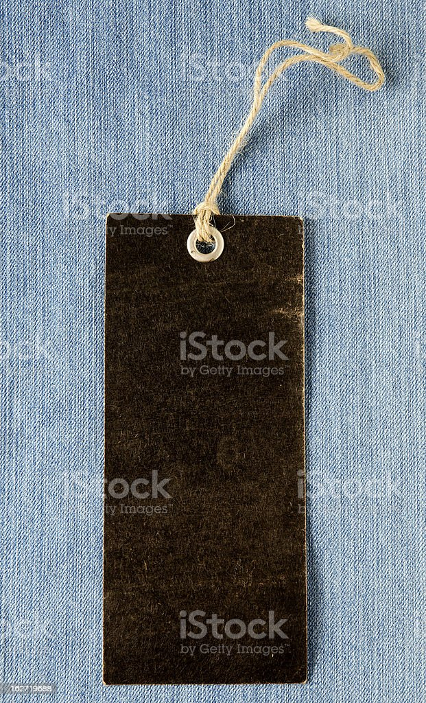 Blank label with string royalty-free stock photo