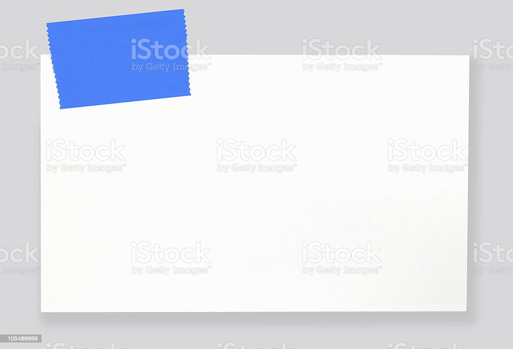 Blank Label with Tape royalty-free stock photo