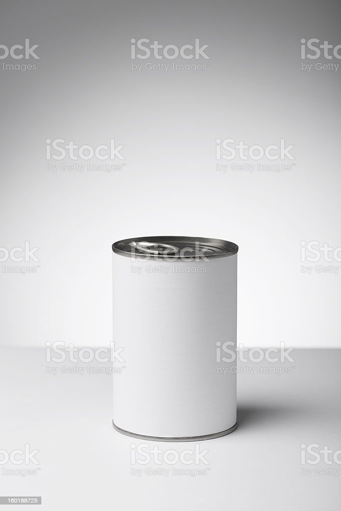 Blank labeled products on neutral white to gray gradient background royalty-free stock photo
