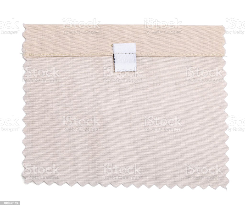 Blank Labeled White Fabric Swatch royalty-free stock photo