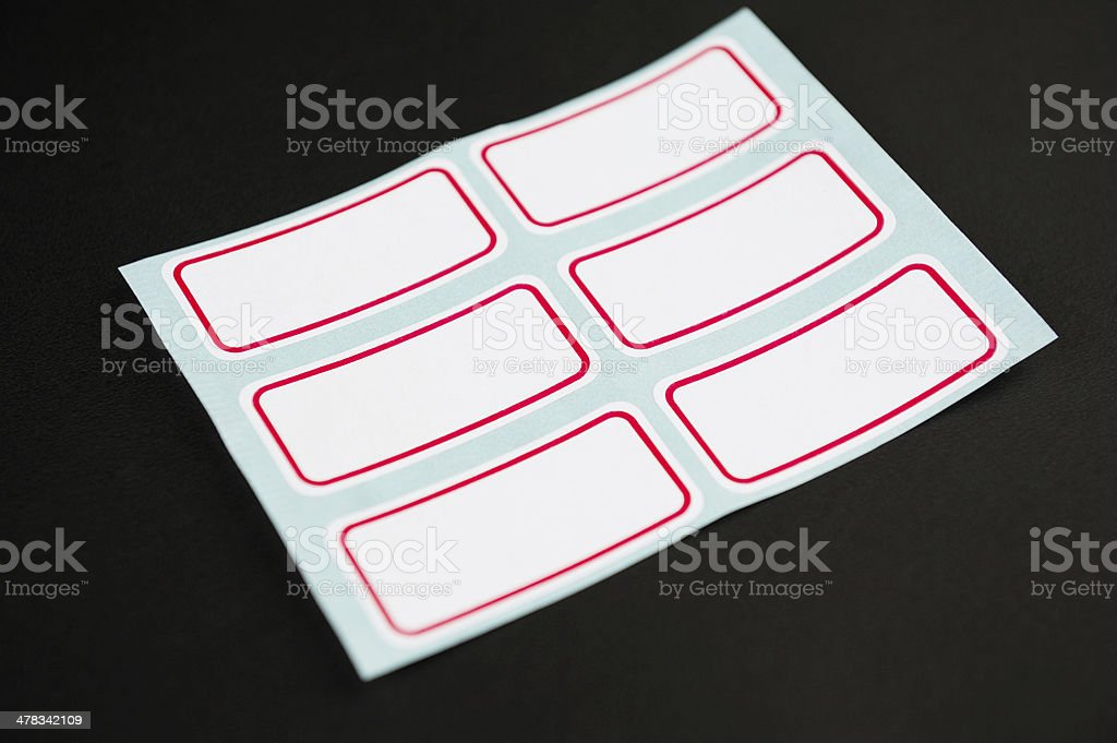 Blank Labels stock photo
