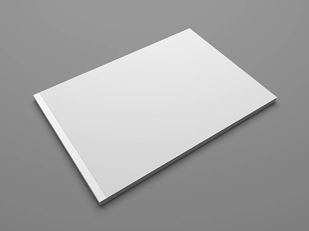 Blank landscape format 3D illustration brochure mock up - foto stock